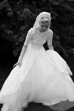A Vintage Rockabilly Wedding in Canada Gorgeous dress!