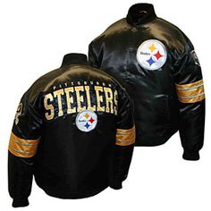 Get this Pittsburgh Steelers Prime Satin Jacket at ThePittsburghFan.com bfc8b059d