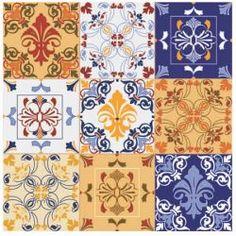 Papéis para Scrapbook -  Azulejo Hidráulico (SC-302). Disponíveis para venda no nosso site, entregamos em todo o Brasil.
