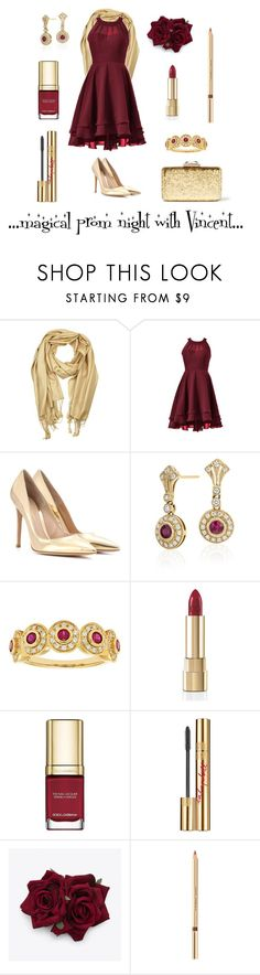 """""""Wizardess Heart - prom night with Vincent"""" by thatshippertypefangirl ❤ liked on Polyvore featuring Gianvito Rossi, Blue Nile, Dolce&Gabbana, Yves Saint Laurent and KOTUR"""