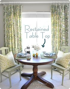 Centsational Girl tutorial on restaining a wooden table