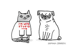 another fun pug pic from gemma correll