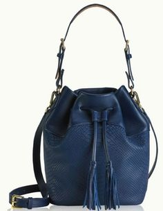 Navy Blue Bucket Bag
