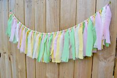 pastel birthday banner fairy theme butterfly by BannersAway