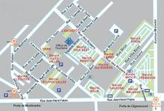 Map of the Paris Flea Market www.antiquesdiva.com