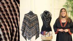 Poncho Shawl, Herringbone, Crochet Patterns, Knitting, Youtube, Gold, Dresses, Women, Fashion