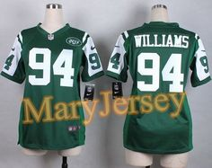 """$23.88 per one, welcome email """"MaryJersey"""" at maryjerseyelway@gmail.com 2015 NFL Draft Nike Jets 94 Leonard Williams Green Team Color Women Stitched Elite Jersey"""