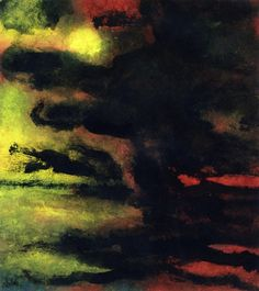 """"""" Seascape with Dark Sky and Yellow Sun Emil Nolde - Date unknown """""""
