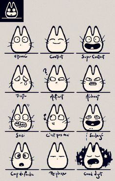 how to draw my neighbor totoro characters - Google Search