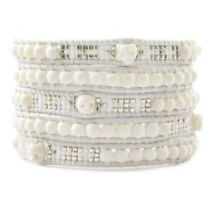 Chan Luu - White Mix Skull Wrap Bracelet on Natural White Leather, $180.00 (http://www.chanluu.com/wrap-bracelets/white-mix-skull-wrap-bracelet-on-natural-white-leather/)