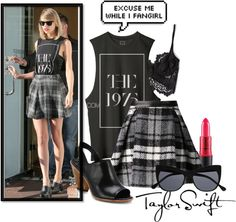 A fashion look from January 2015 featuring leather mini skirts, lace bra and peep-toe shoes. Browse and shop related looks. Taylor Swift Costume, Fangirl, Costumes, Shoe Bag, Polyvore, Collection, Shopping, Design, Women
