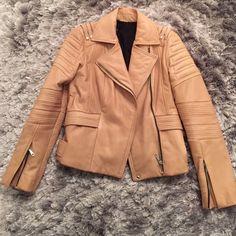 Rebecca Minkoff Nude leather jacket Rebecca Minkoff Jackets & Coats