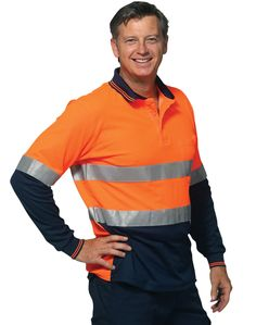 NEW MENS HIGH VISIBILITY COTTON DRILL LONG SLEEVE WORK FACTORY TRADIE SHIRT