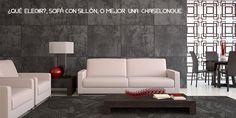 ¿QUÉ ELEGIR?, SOFÁ CON SILLÓN, O MEJOR UNA CHAISELONGUE.  #sofá #sillón #chaiselongue #rinconera #oksofás #estoyok #relax #descanso  http://www.decoblog.es/sofa-sillon-mejor-una-chaise-longue/