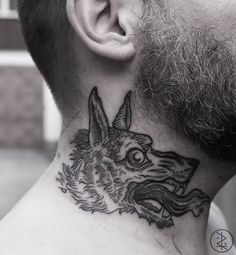 wolf neck piece (I think this is the wolf from Neurosis' Times of Grace record?)