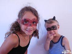 Masque ladybug et chat noir Makeup Transformation, Ladybug, Carnival, Face, Beauty, Voici, Gadgets, Black Cat Makeup, Costume Makeup