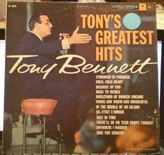 Vintage Vinyl Record Tony Bennett Tonys Greatest Hits  1958 Album LP - Stranger In Paradise - Rags To Riches - Just In Time #cirlce1 #VinylMondays
