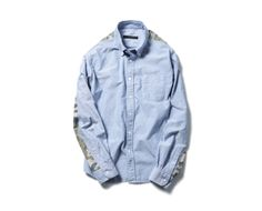 SOPHNET. CAMOUFLAGE PANEL B.D SHIRT