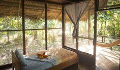 Huaorani Ecolodge - sleeping in the Amazon rainforest / Ecuador