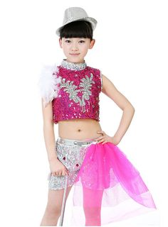 ec0f33a7188e Click to Buy << New Children 's Jazz Dance Children' s Sequin Performance  Costume Children 's Modern Latin Stage Dance Dress Suit #Affiliate