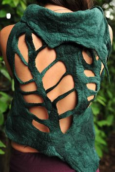 Felt+Rainforest+Leaf+Pixie+Woodland+Nymph+Bolero+by+frixiegirl,+$158.00