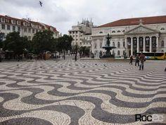 Rossio square Calçada portuguesa Lisboa