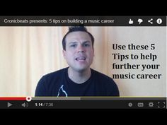 Cronicbeats presents: 5 tips on building a music career