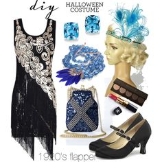 Dance and have fun   flapper headband from Blueskyhorizons   flapper by ejwindependence on Polyvore featuring moda, Funtasma, Iconic by UV, Kevin Jewelers, Chanel, halloweencostume and DIYHalloween