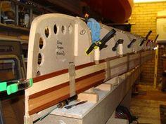 ash laminations photo by STEVE_GRESTY Wood Canoe, Wooden Kayak, Wooden Model Boats, Wood Boats, Make A Boat, Diy Boat, Model Boat Plans, Plywood Boat Plans, Canoe And Kayak