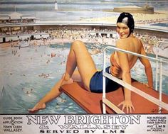 Vintage New Brighton and Wallasey Poster