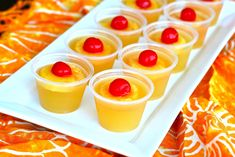 Pineapple Upside Down Cake Jello Shots 1 cup canned pineapple juice packets Knox unflavored gelatin 1 tablespoon sugar (optional) 1 cup cake flavored vodka (or whipped vodka or vanilla) pineapple maraschino cherries plastic shot cups Cocktail Drinks, Fun Drinks, Yummy Drinks, Cocktails, Alcoholic Drinks, Shots Drinks, Party Drinks, Bartender Drinks, Root Beer
