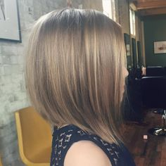 Long Layered Angular Bob For Girls