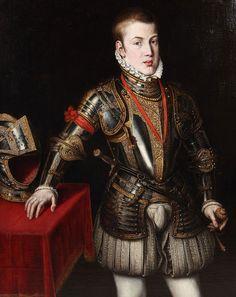 Carlos, Prince of Asturias. Unknown artist.