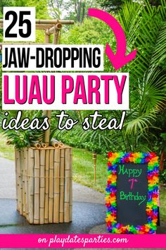 luau birthday party for adults - luau birthday ; luau birthday party for kids ; luau birthday party for adults ; Adult Luau Party, Kids Luau Parties, Luau Theme Party, Hawaiian Luau Party, Hawaiian Birthday, Luau Birthday, Tiki Party, Partys, Luau Party Ideas For Adults