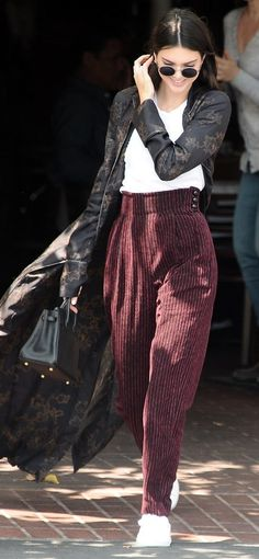 Check out Kendall Jenner's corduroy pants.