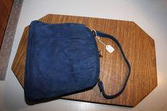Vintage Blue Velvet Purse