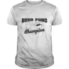 I Love beer pong champion Shirt; Tee