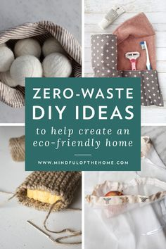 If you want to become more sustainable, start focusing on reusing items as much as possible. And instead of buying new zero-waste products, make your own! These zero-waste DIY ideas for reusable produ Diy Recycling, Reuse Recycle, Diy Reusable Sandwich Bags, Idee Diy, Eco Friendly House, Recycled Crafts, Zero Waste, Diy Gifts, Sustainable Living