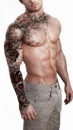 tattoo sleeve men color \ tattoo sleeve men ` tattoo sleeve men half ` tattoo sleeve men arm ` tattoo sleeve men ideas ` tattoo sleeve men old school ` tattoo sleeve men forearm ` tattoo sleeve men half forearm ` tattoo sleeve men color Badass Sleeve Tattoos, Tree Sleeve Tattoo, Full Sleeve Tattoos, Tattoo Tree, Full Body Tattoo, Full Chest Tattoos, Full Sleeve Tattoo Design, Tattoo Sleeves, Mens Shoulder Tattoo