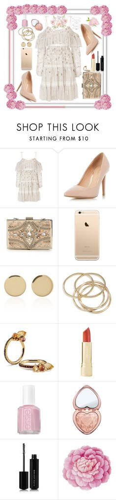 """Beautiful And Funny Girl In Lisbon"" by zanfira-panciu ❤ liked on Polyvore featuring Needle & Thread, Dorothy Perkins, Forever Unique, Magdalena Frackowiak, ABS by Allen Schwartz, NOL Jewellers, Essie, Too Faced Cosmetics, Marc Jacobs and Ballard Designs"