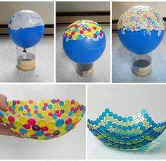 Cute Button Bowl #diy #craft