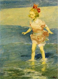 In the Surf by Edward Potthast #art