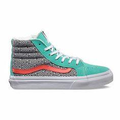 ae577e6eaa VANS Geometric Sk8-Hi Slim Girls Shoes Vans Kids