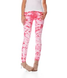 Ashley Ultra Skinny Tie-Dye Jean ... Okay, so these are a little crazy but they're AWESOME! I'd totally wear them.