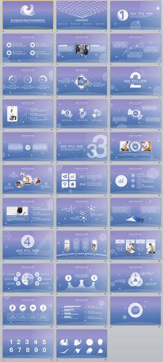 30+ Blue business report PowerPoint Template Template, Business - best of blueprint background slideshow