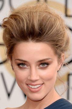 Amber Heard at the 2014 Golden Globe Awards: http://beautyeditor.ca/2014/03/11/awards-season-beauty-2014/