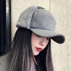 c997907e Women Winter Warm Adjustable Earmuffs Baseball Cap Vintage Baseball Caps,  Baseball Hats, Hats For