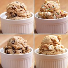"Healthier Edible ""Cookie Dough"" 4 Ways"
