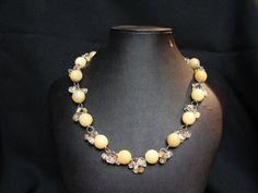 Aragon Bead Necklace with Citrine bead accents. My Wife Is, Aragon, Beaded Necklace, Jewelry Design, Beads, Fashion, Beaded Collar, Beading, Moda