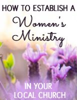 How to Start a Women's Ministry